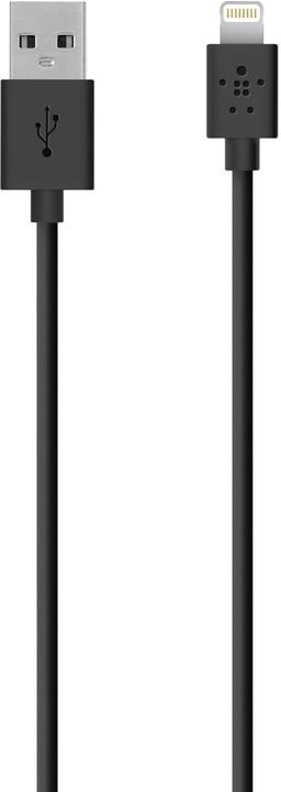 Belkin nabíjecí a synchronizační Premium s Lightning konektorem, 1,2 m, černá