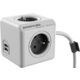PowerCube EXTENDED USB prodlužovací přívod 1,5m - 4 zásuvka, šedá  + Powerbanka EnerGEEK v hodnotě 499 Kč