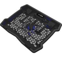 """CANYON chladící podložka NS02 pro notebook 10-15.6"""", LED, černá - CNE-HNS02"""