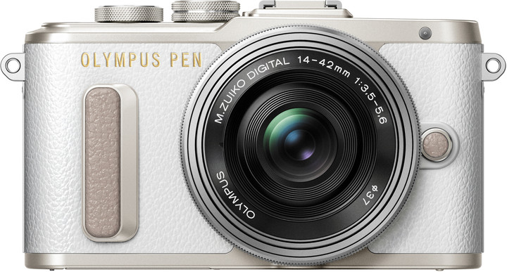Olympus E-PL8 tělo + 14-42mm, bílá/stříbrná