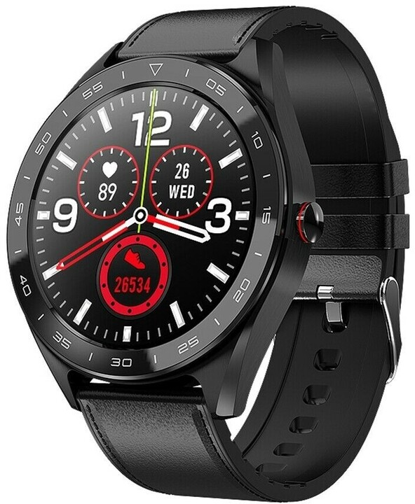 IMMAX chytré hodinky OWN FACE, černý