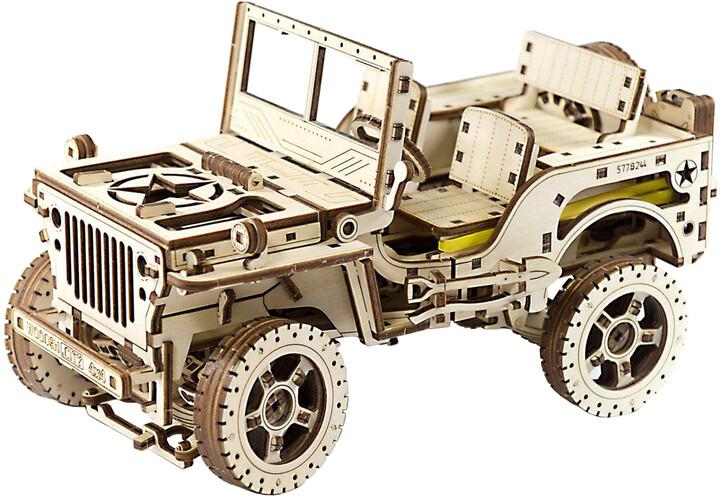 Stavebnice - Jeep 4x4 (dřevěná)