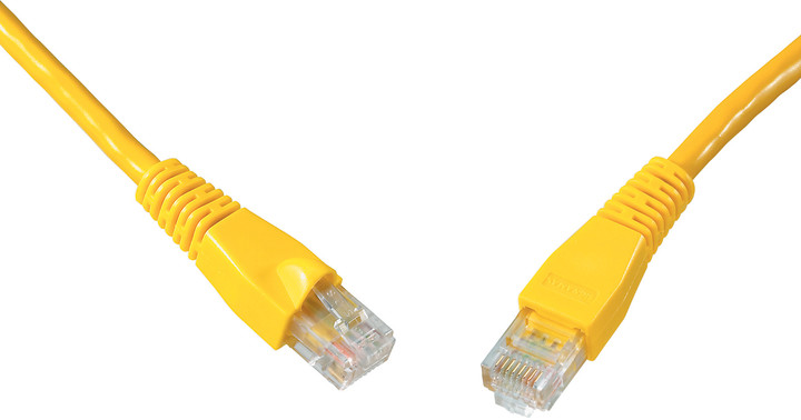 Solarix Patch kabel CAT5E UTP PVC 15m žlutý snag-proof