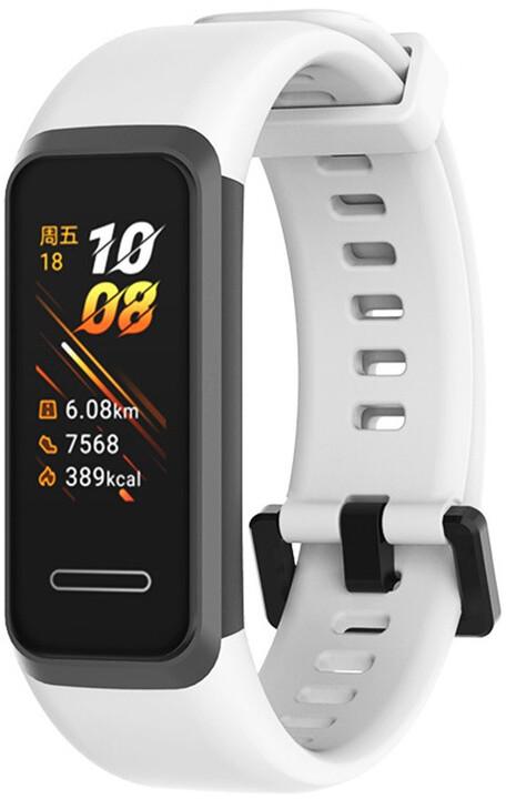 Tactical 449 silikonový řemínek pro Huawei Band 4, bílá