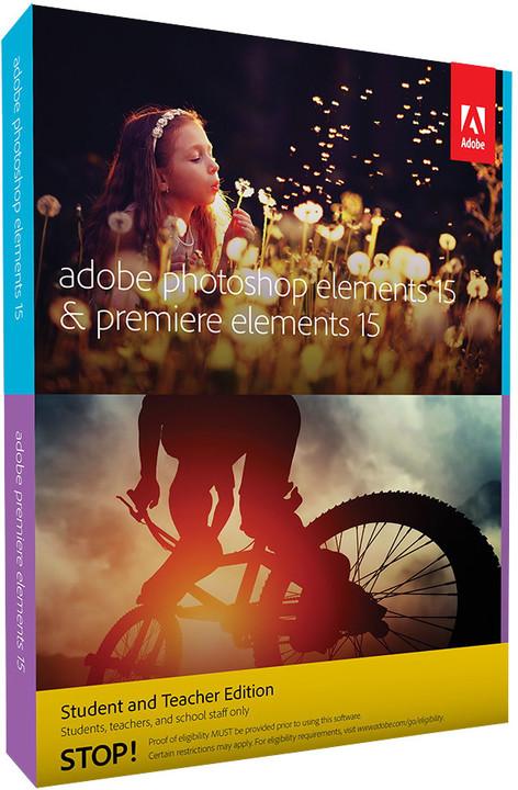 Adobe Photoshop + Premiere Elements 15 CZ Student & Teacher