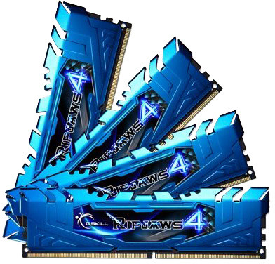 G.SKill Ripjaws4 32GB (4x8GB) DDR4 2400, CL15, blue
