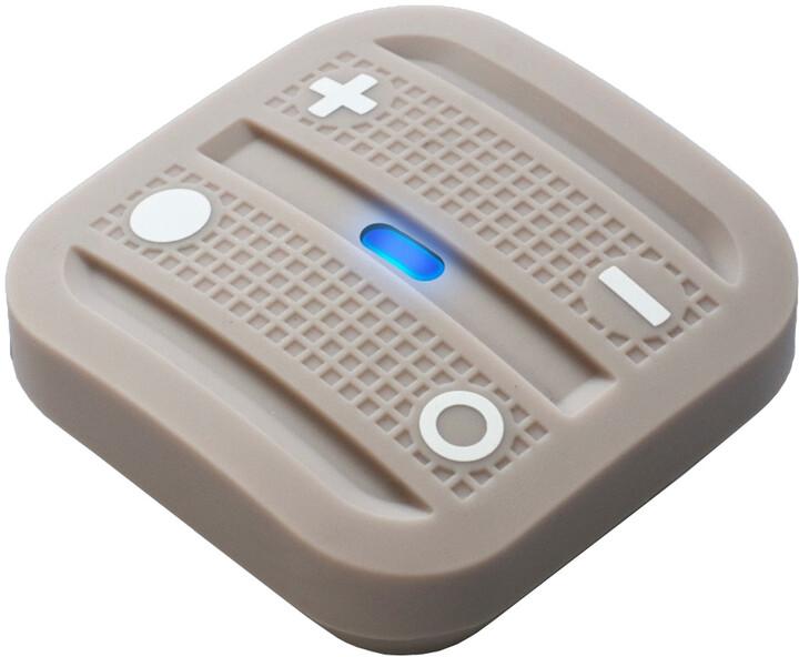 Fibaro NodOn Soft Remote, magnetické bateriové 4tlačítko na zeď, světle hnědá