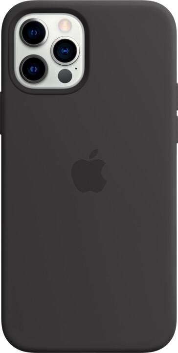 Apple silikonový kryt s MagSafe pro iPhone 12/12 Pro, černá