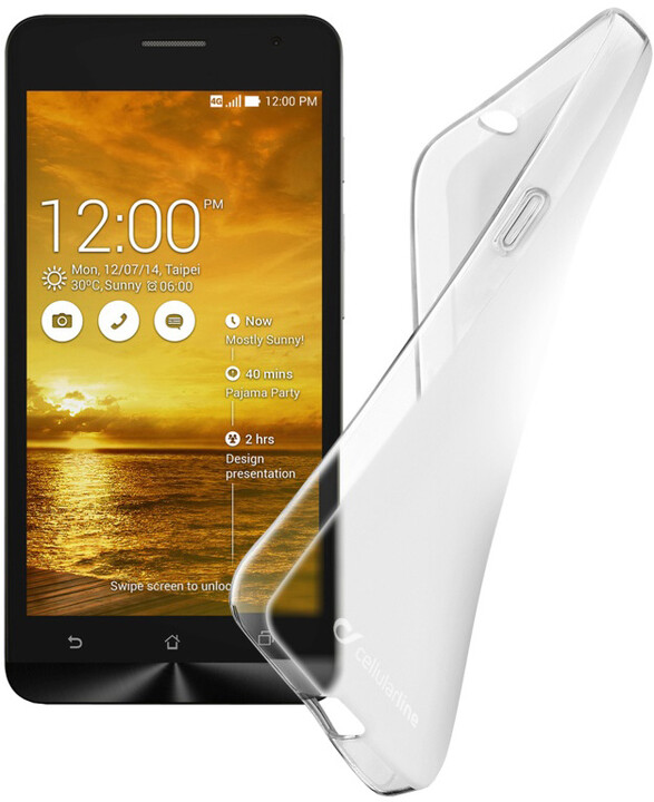 Cellularline SHAPE TPU pouzdro pro ASUS Zenfone 5 Transp