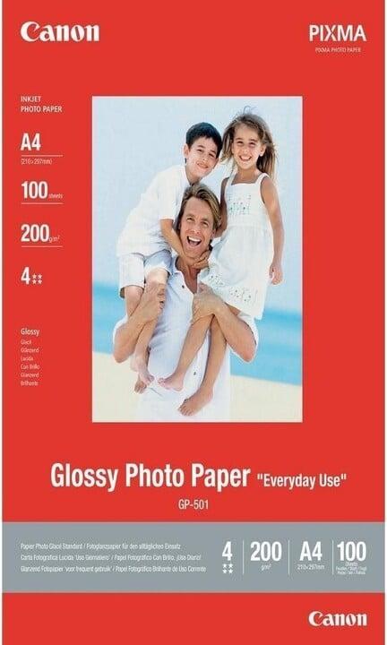 Canon Foto papír GP-501, A4, 100 ks, 200g/m2, lesklý