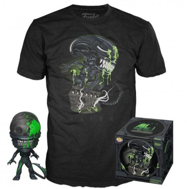 Set Alien: Xenomorph - figurka POP! a pánské tričko (XL)