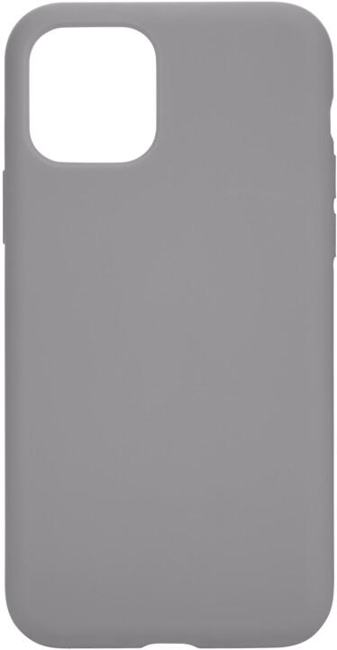 Tactical silikonový kryt Velvet Smoothie pro Apple iPhone 11 Pro, šedá