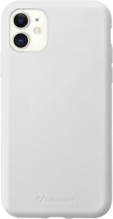 CellularLine ochranný silikonový kryt SENSATION pro Apple iPhone 11, bílá
