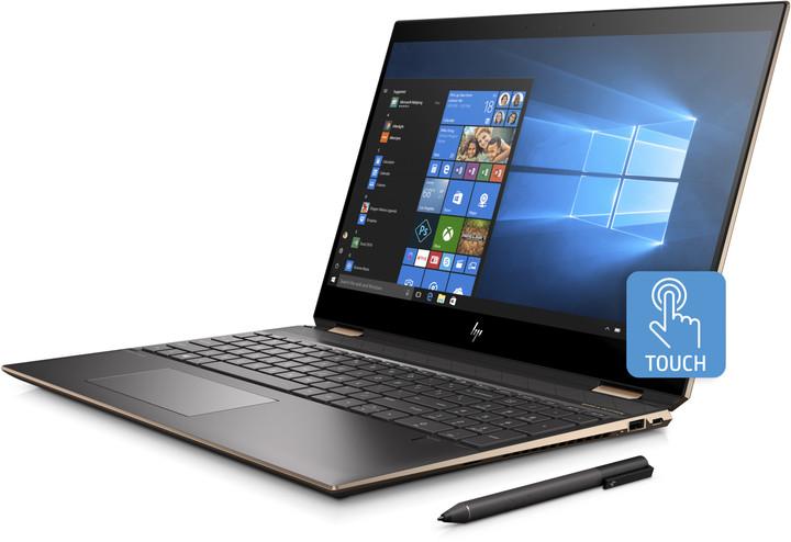 HP Spectre x360 15-df0008nc, stříbrná