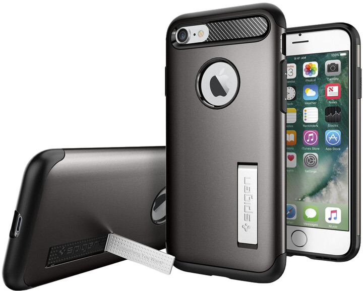 Spigen Slim Armor pro iPhone 7/8, gunmetal