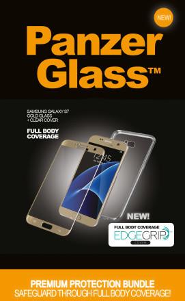 PanzerGlass Premium pro Samsung Galaxy S7 zlaté + pouzdro