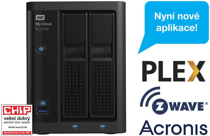 WD My Cloud DL 2100, bez HDD