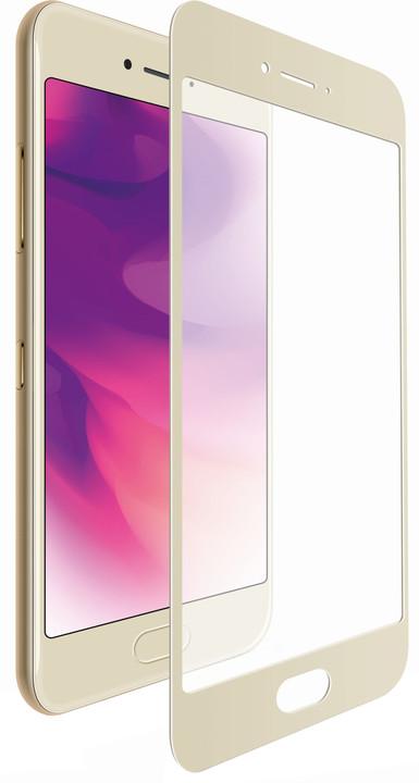 FIXED Full-cover ochranné tvrzené sklo pro Huawei Mate 10, zlaté