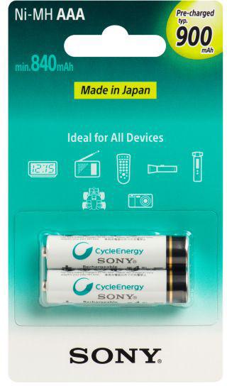 Sony NiMH nabíjecí baterie AAA / 900 mAh / 2 ks v blistru