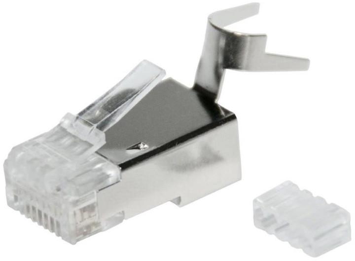 Solarix Modulární konektor 8p8c CAT6A skládaný, stíněný, pro drát