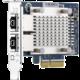 QNAP QXG-5G2T-111C dvouportová síťová rozšiřující karta 5GbE