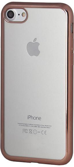EPICO Pružný plastový kryt pro iPhone 7 BRIGHT - rose gold