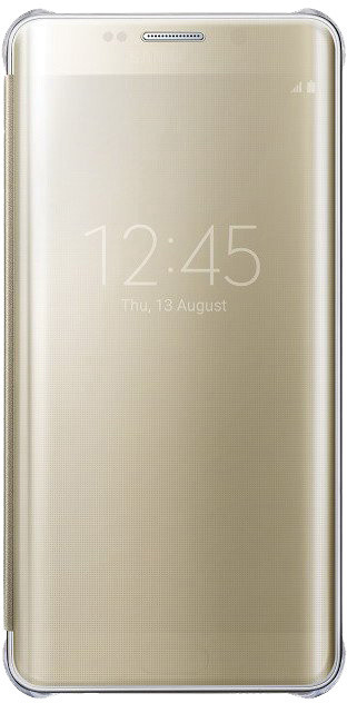 Samsung flipové pouzdro Clear View pro Samsung Galaxy S6 edge+ (SM-G928F), zlatá
