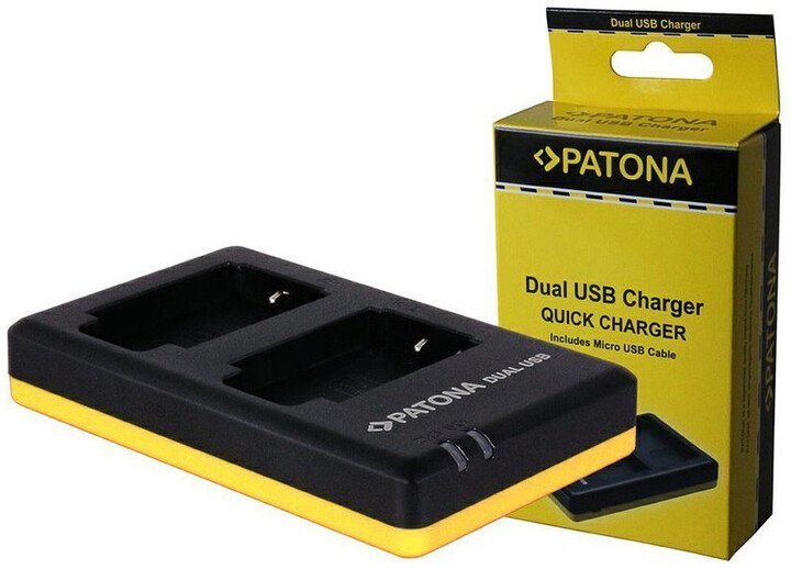 Patona nabíječka pro foto Dual Quick Olympus Li-90B USB