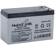 MaxLink baterie AGM 12V/7,2Ah, olověný akumulátor F2 - MLB-A12-7,2