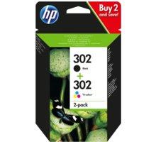 HP X4D37AE č. 302 multipack, černá