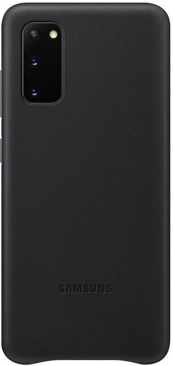 Samsung kožený zadní kryt pro Galaxy S20, černá