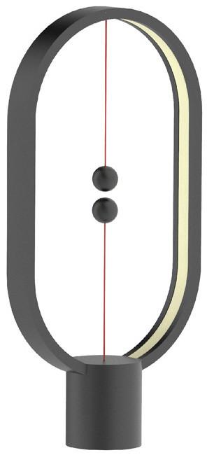 Heng Balance Lamp Plastic Ellipse USB, černá