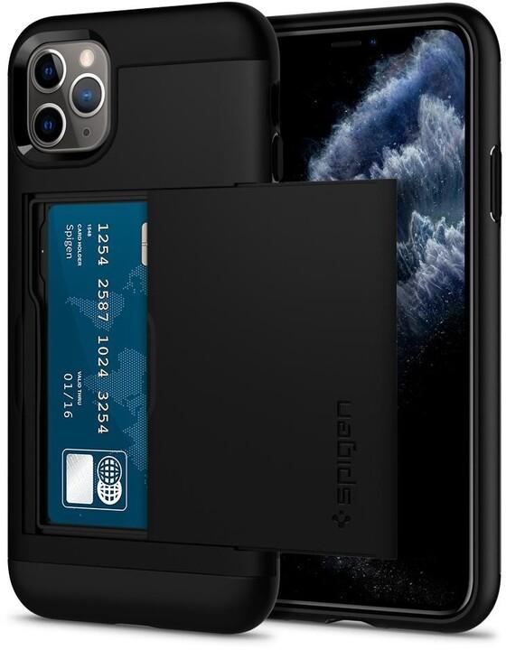 Spigen ochranný kryt Slim Armor CS pro iPhone 11 Pro, černá