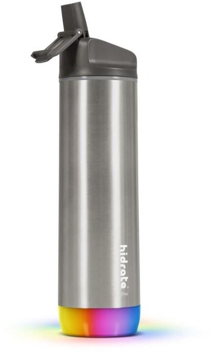 HidrateSpark Steel - Smart Bottle, 620 ml, Stainless
