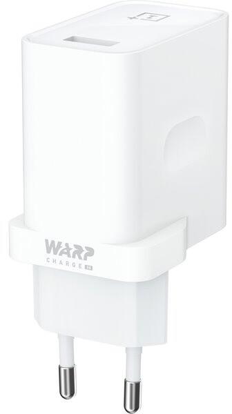 OnePlus síťová nabíječka Warp Charge 30, bílá