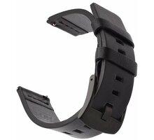 Tactical 307 kožený řemínek pro Huawei Watch GT/GT Active/GT2 Pro, 22mm, černá