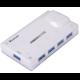 PremiumCord USB 3.0 Superspeed HUB 4-portový s napájením