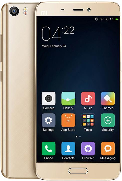 Xiaomi Mi5 - 32GB, LTE, zlatá
