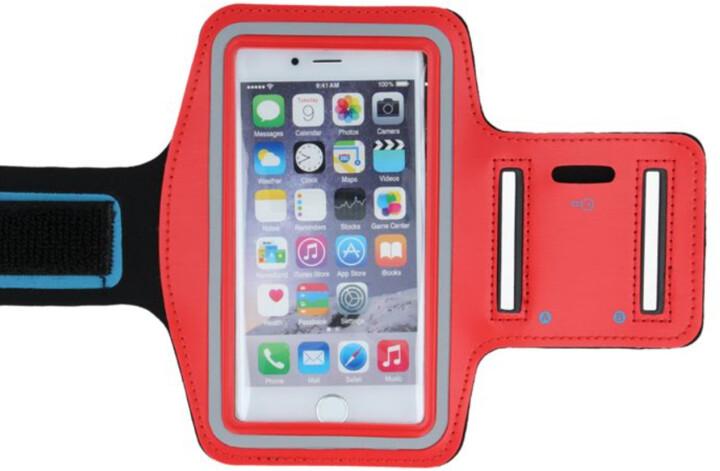 "Forever pouzdro na ruku pro smartphone 6.0"", červená"