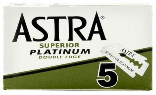 Náhradní žiletky Astra Platinum, oboustranné, 5 ks