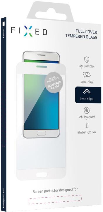 FIXED Full-Cover ochranné tvrzené sklo pro Huawei P10 Lite, přes celý displej, bílé