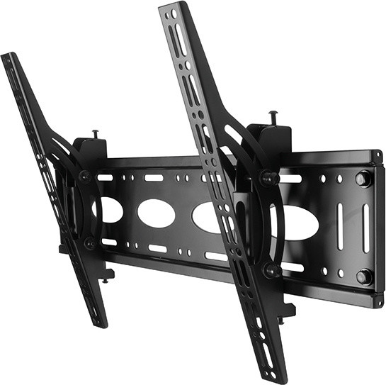 B-TECH univerzální nástěnný držák s naklápěním, VESA 600x400, černá