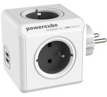 PowerCube ORIGINAL USB rozbočka-4 zásuvka, šedá - 8718444085959