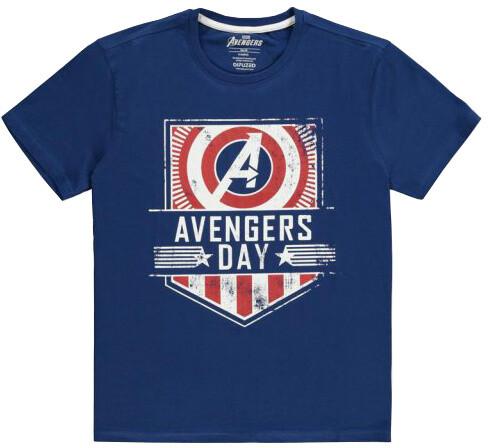 Tričko Marvel - Avengers Day, modré (XXL)