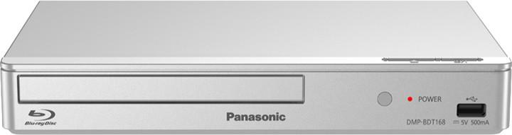 Panasonic DMP-BDT168EG, 3D, stříbrná