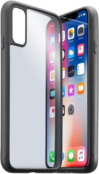 CellularLine CONTOUR ochranný rámeček pro Apple iPhone X, transparentní záda, černý