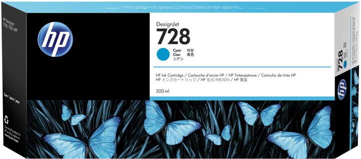 HP F9K17A no. 728 (300ml), cyan