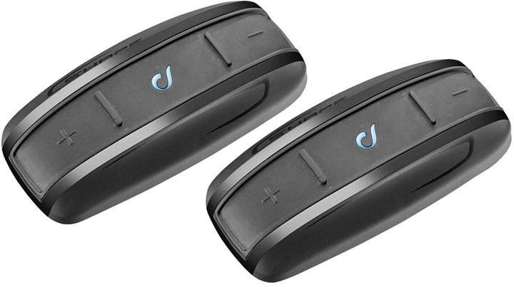 CellularLine Interphone SHAPE Bluetooth handsfree pro uzavřené a otevřené přilby, Twin Pack