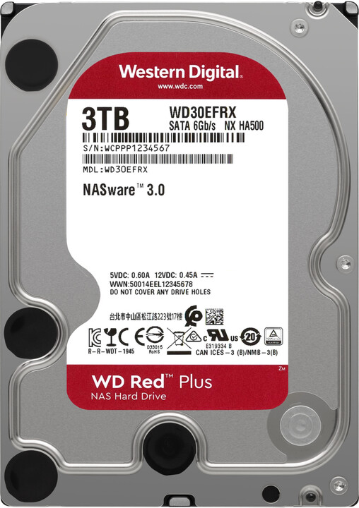"WD Red Plus (EFRX), 3,5"" - 3TB"