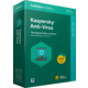 Kaspersky Anti-Virus 2018 CZ pro 1 zařízení na 12 měsíců, nová licence